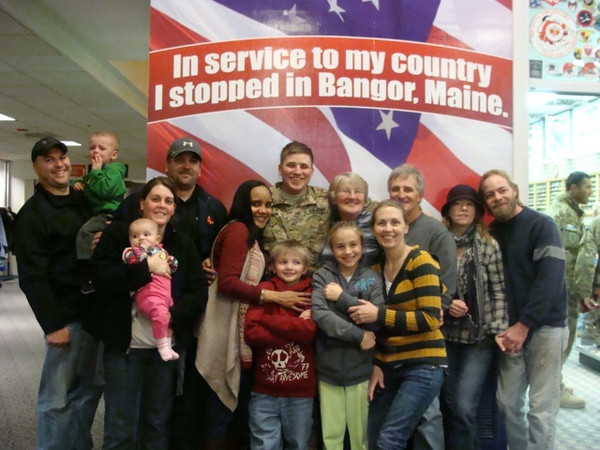 Troops with their Famlies & Friends